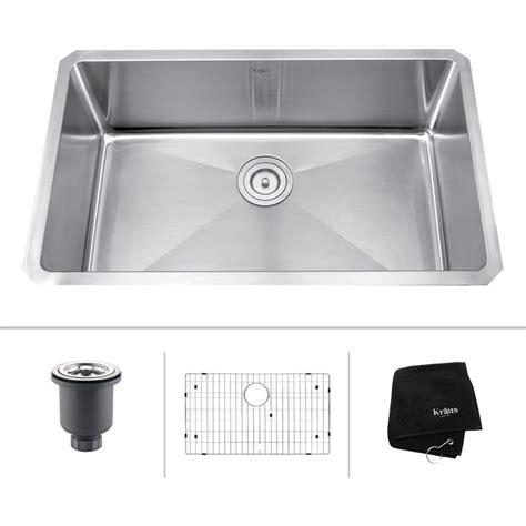 kraus 30 inch undermount sink kraus khu100 30 30 inch undermount single bowl 16