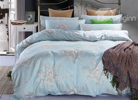 pastel bedding pastel blue elegant lilac print 4 piece duvet cover sets