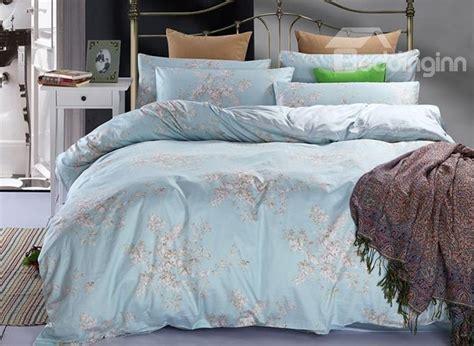pastel bedding pastel blue elegant lilac print 4 piece duvet cover sets beddinginn com