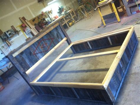 barn wood bed custom made barn wood reclaim platform bed by droptine woodworks custommade com