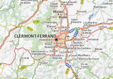 Carte détaillée Clermont Ferrand plan Clermont Ferrand ViaMichelin