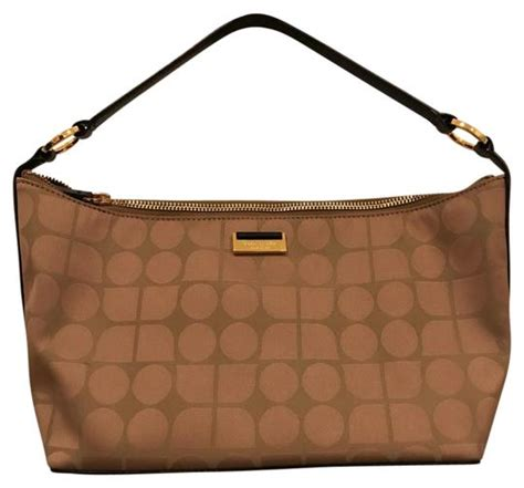 kate spade monogram tan hobo bag tradesy