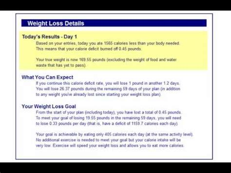 a weight loss calculator lose weight faster with my specialized daily weight loss