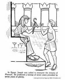 Joseph activity sheet coloring page about joseph while you tell the