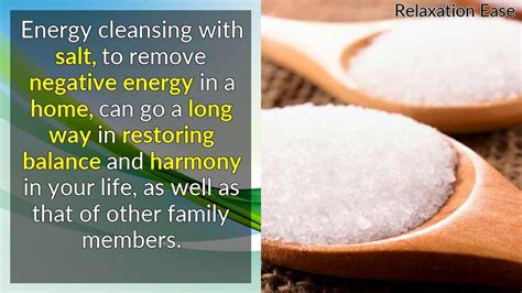 negative energy removal energy clearing with salt remove negative energy in a home