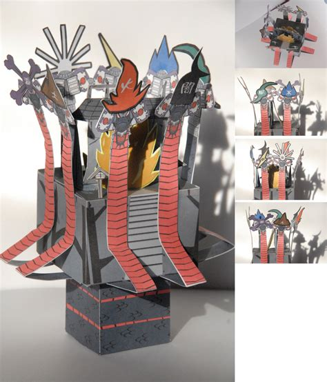 Okami Papercraft - okami orochi cubee by scarykurt on deviantart