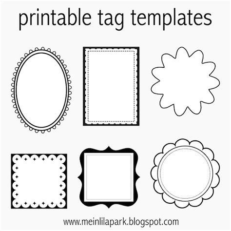 free printable tag templates for diy tags ausdruckbare