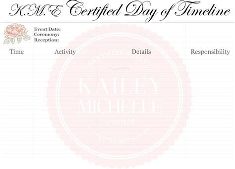 wedding timeline template download free premium