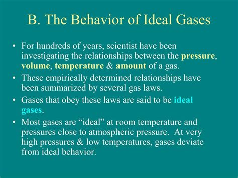 Ideal Room Temperature by Ppt Chapter 10 Gases The Atmosphere Powerpoint