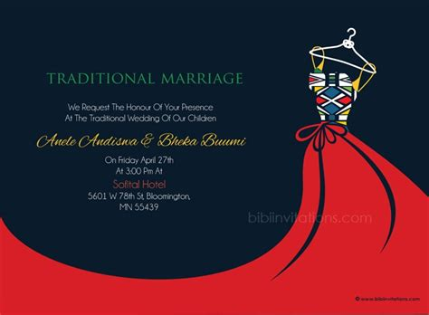 traditional invitation card template busisiwe ndebele traditional wedding invitation