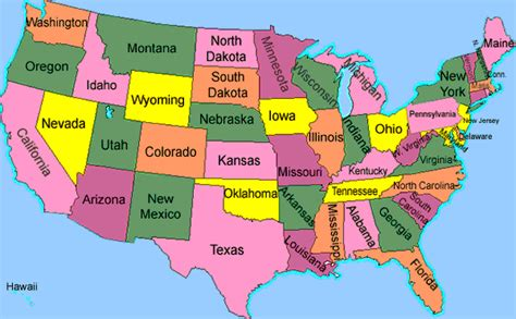 usa map of states visited united states