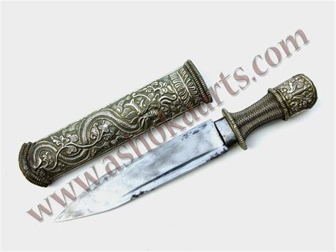 small to tibet small tibet dagger with chiselling ashoka arts