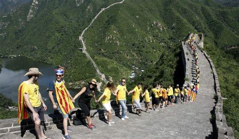 imagenes graciosas independencia catalana un centenar de catalanes se reune en la muralla china para