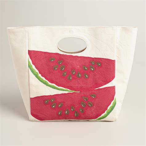 Cotton Lunch Bag watermelon fluf organic cotton lunch bag world market