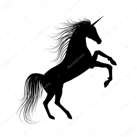 imagenes de unicornios blanco y negro unicorno nero silhouette vettoriali stock 169 robisklp