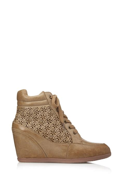floral high heels forever 21 forever 21 floral wedge sneakers in brown lyst