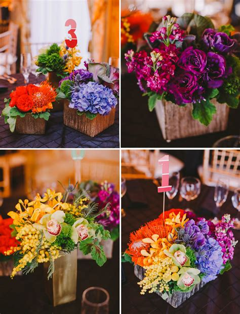 Rainbow Themed Centerpieces Memorable Wedding Wedding Rainbow Themes Are Meaningful