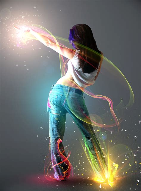 tutorial photoshop dance show me the light digital art tutorial 300 free