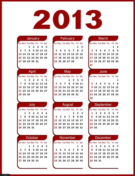 printable yearly calendars 2013 free 2013 printable calendar full year calendario 2013