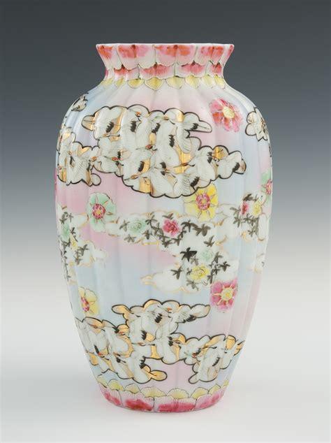 Thousand Cranes Vase by A Thousand Cranes Porcelain Vase 01 27 11 Sold 92