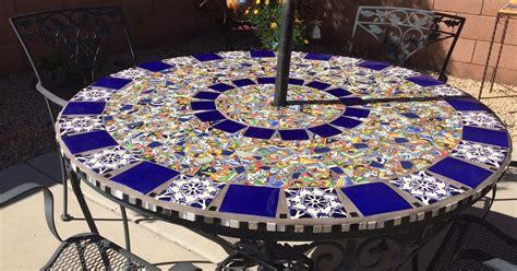 Mosaic Top Patio Table Mosaic Tile Patio Table Hometalk
