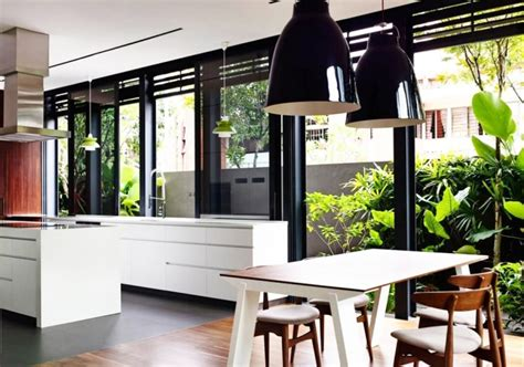 desain dapur terbuka  taman dibelakang rumah