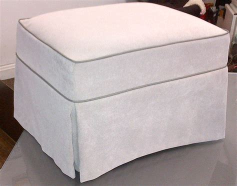 how to make a slipcover for an ottoman ottoman slipcover custom images