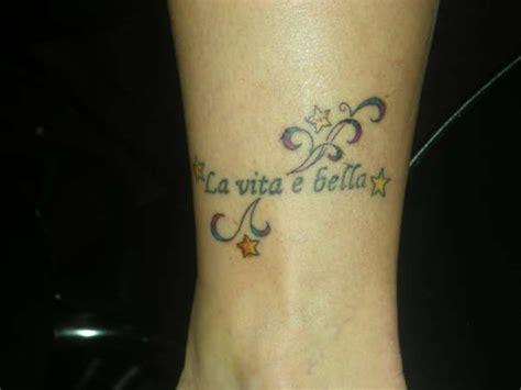 la vita e bella tattoo la vita e