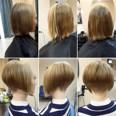 hidden stack hair cut les 25 meilleures id 233 es de la cat 233 gorie nuque ras 233 e femme