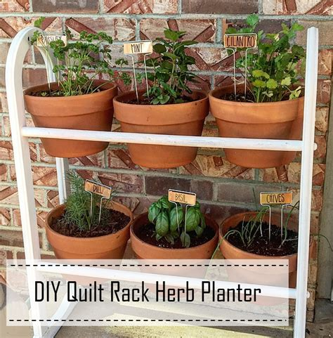 diy labeled indoor herb planters h o m e pinterest farmhouse for five thrifted relifted herb planter