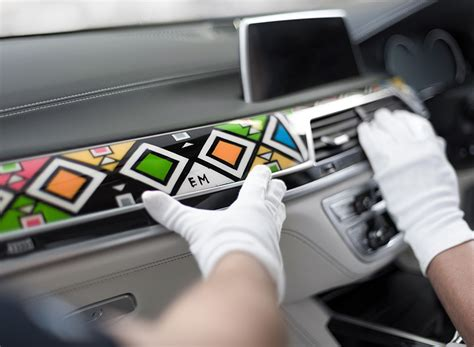 How To Decorate Car Interior by Bmw Commission Artist To Decorate 7 Series Interior