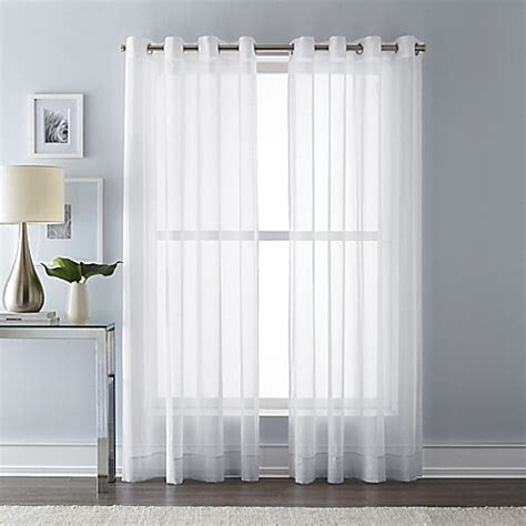 108 inch grommet curtain panels buy wamsutta 108 inch grommet top sheer window curtain