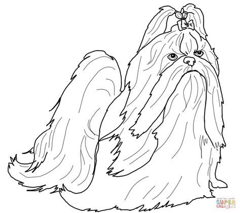 shih tzu pictures to print shih tzu coloring book coloring pages