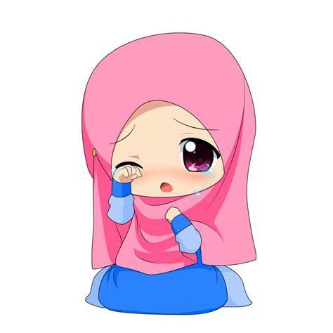 Kartun Hijab Bersama Sahabat Koleksi Gambar Kartun Ana Muslim Dan