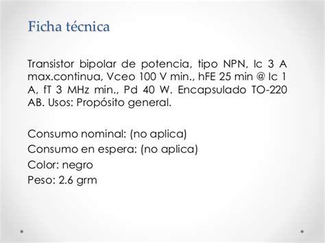 transistor bipolar usos transistores y compa 241 237 as