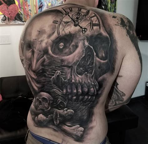 skull back tattoos skull mens back best design ideas