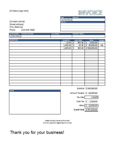 invoice template in excel free excel invoice templates free spreadsheetshoppe
