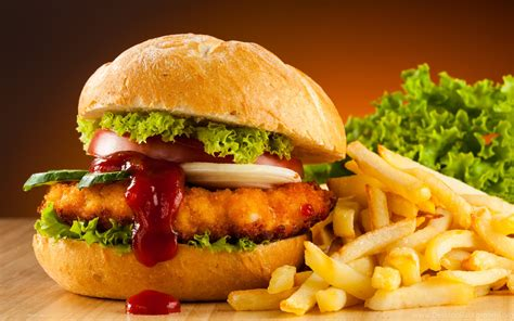 wallpapers burgers fast food hamburger french fries