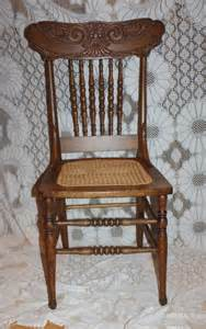 beautiful pressed back wood chair oak with seat