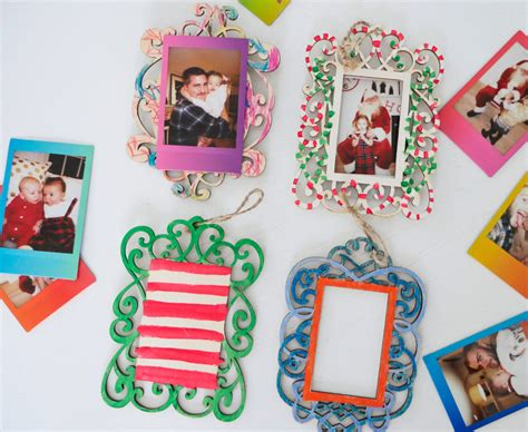 fujifilm instax holiday ornament red crafting photo ornaments happily after
