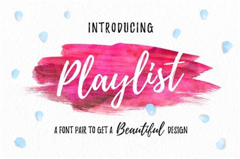 playlist script font befontscom