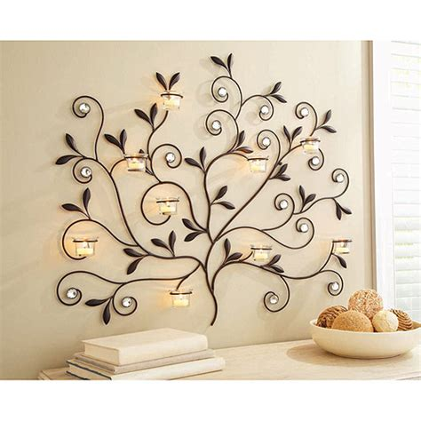 better homes and gardens wall decor better homes and gardens tree votive sconce oil rubbed