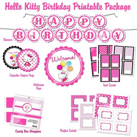 hello kitty printable party decorations free 48 best images about reagan s 4th birthday party planning