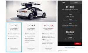 Tesla Electric Car Model X Price Tesla Model X Priced Before Incentives From 81 200