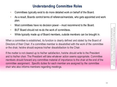 Definition Of Committee Chair by Committee Terms Of Reference How To Write