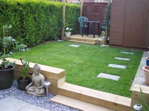 railway sleepers small garden design ideas small patio