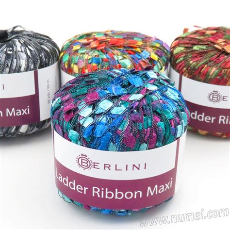Ribbon Maxi 4 berlini ladder ribbon maxi knitting yarn crochet yarn at