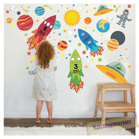 wall stickers boys bedroom childrens space boy wall stickers decals nursery boys