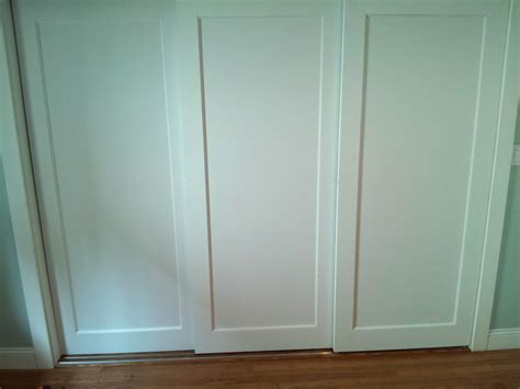 Three Track Sliding Closet Doors Simple Sliding Closet Doors Three Panel Roselawnlutheran