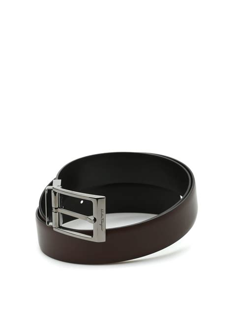 Salvatore Ferragamo Leather salvatore ferragamo reversible leather belt belts